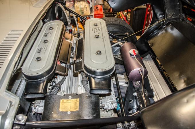 That beautiful transverse mounted Lamborghini V12 engine.  Che Bella Macchina!