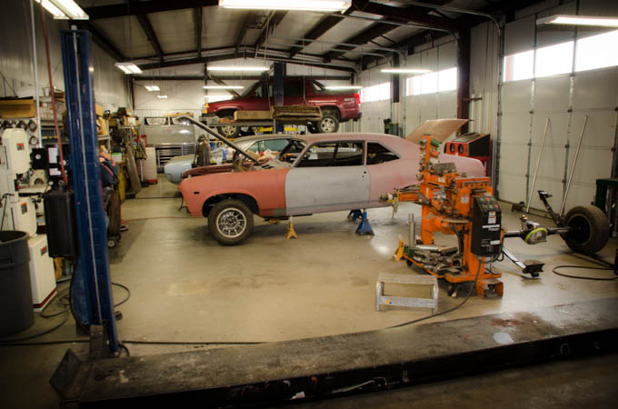 Another of Larry's personal cars, a Chevelle, awaiting restoration