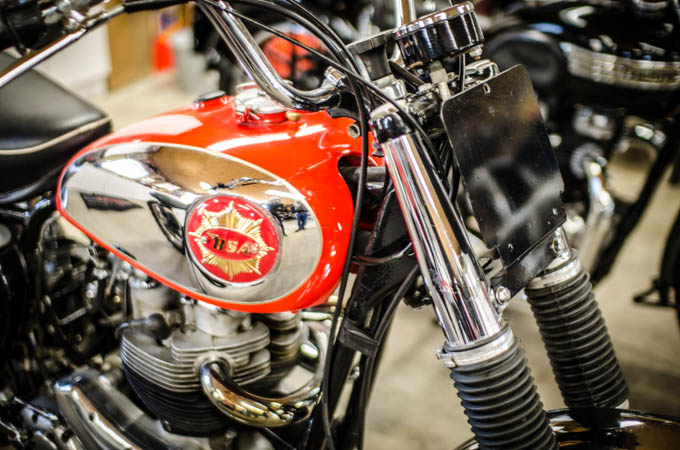 Who wouldn't want this beautiful BSA in their garage?