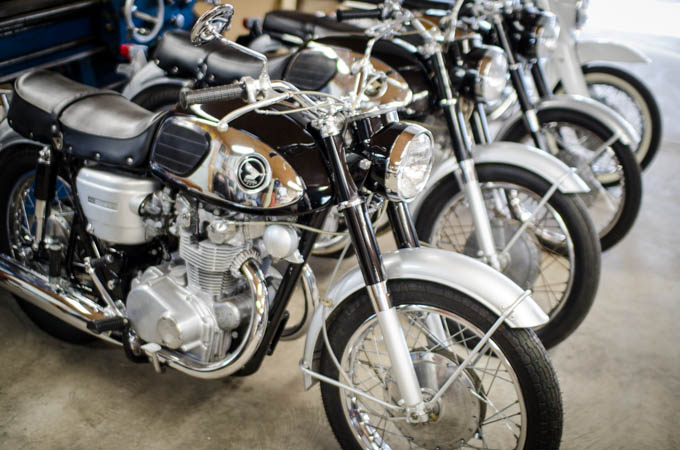A matched pair of early Honda CB450's.  One all original and just like new.