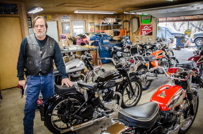 Part of a beautiful motorcycle collection